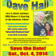 Tickets on sale now for Oct. 4 Benefit for Dave Hall